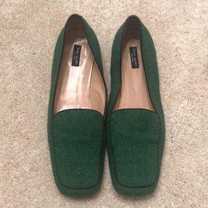 Kate Spade green wool loafers - W10